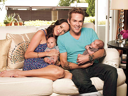 Mark McGrath and his wife