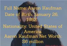 Aaron Kaufman Net Worth
